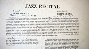 Jazz Recital notes
